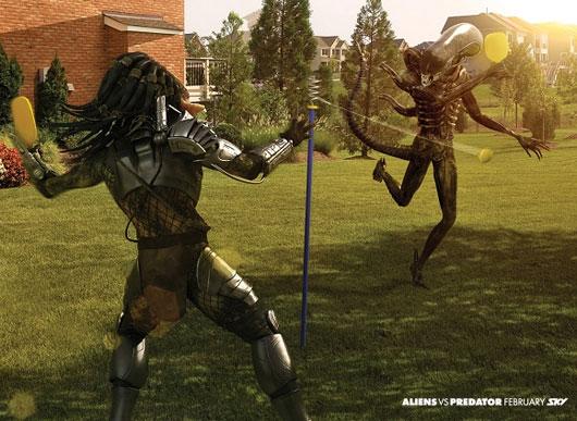 Принт, Печатная реклама, SKY Television: Alien Vs Predator (Swingball)
