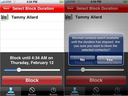 Bad Decision Blocker - iPhone App
